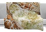KESS InHouse Wildlife Africa 2'' Brown Animals Fleece Throw Blanket, 60'' x 40''