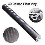 AUDEW 3D Carbon Fiber Car Vinyl Wrap 5ft x 1ft Auto Vinyl Film Car Sticker Decal Automotive Vinyl Sheet ,Self-adhesive DIY Vinyl Roll (Grey)