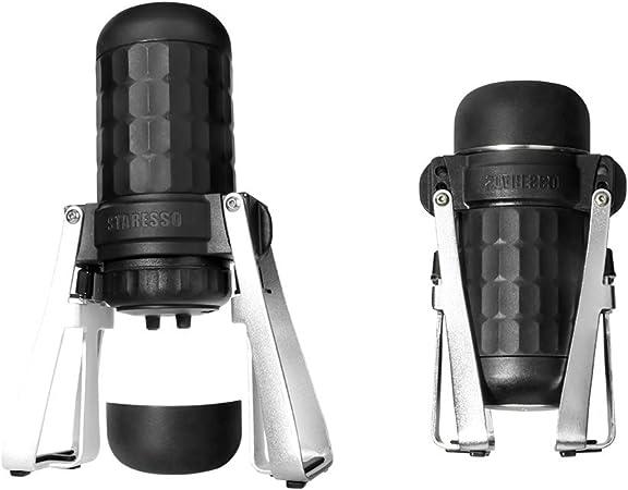 STARESSO Cafetera expreso portátil manual con crema, cafetera de viaje para camping o interior (café molido/cápsulas compatibles): Amazon.es: Hogar