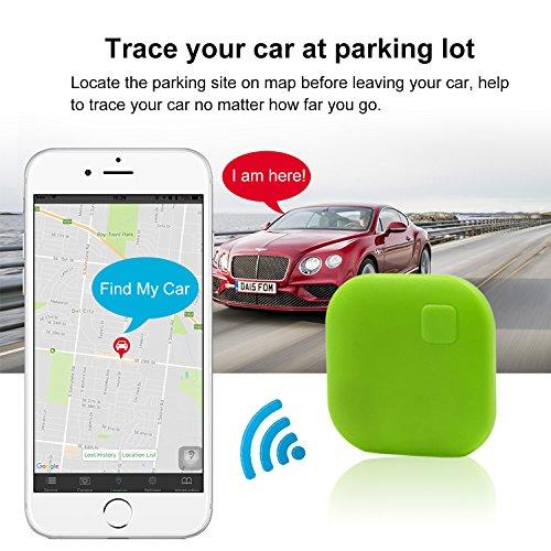 Eccbox Key Finder,Smart Bluetooth Tracker Anti Lost Locator Alarm Wireless Anti-Theft Sensor Remote Selfie Shutter Seeker Finder for Kids, Pet,Wallet, Keys, Car,Smart Phones (Multi-shape-5pcs) by Eccbox (Image #7)