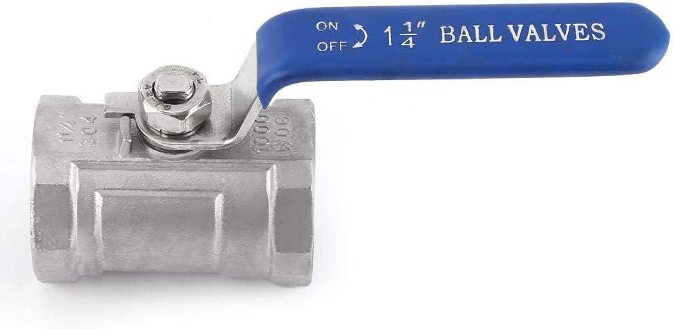 1-1//4 Raguso Ball Valve Internal Thread Pipe Ball Valves for Flow Control 1.2 inch