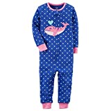Carter's Girls' 1-Piece Snug Fit Footless Cotton Pajamas (5T, Heart Whale)