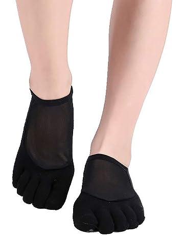 Zhuhaimei,3 pares de calcetines de yoga sin dedos antideslizantes de silicona