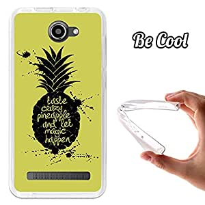BeCool® - Funda Gel Flexible Archos 45 Helium 4G BeCool Taste Crazy Pineapple Carcasa Case Silicona TPU Suave