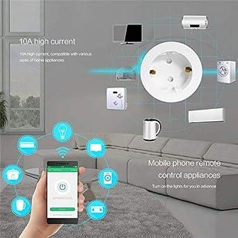 Aucun Hub N/écessaire,T/él/écommande par Smartphone avec Fonction de Calendrier de Partout AoYi WiFi Prise Intelligente Compatible avec  Alexa Google Home IFTTT 4 Packs