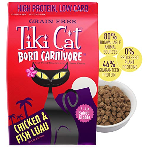 Tiki Cat Born Carnivore GRAIN-FREE Baked Cat Food Chicken & Fish Luau - 5.6 lb. -