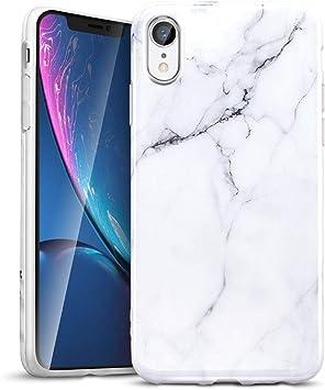 ESR Coque iPhone XR 2018 Marbre, iPhone Coque Silicone Motif Marbre, Housse Etui de Protection Bumper en TPU Souple Lustré pour Apple iPhone XR (2018) ...