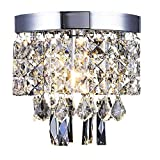 Ceiling Pendant Light AFSEMOS,Crystal Chandelier,Flush ceiling lighting for Bathroom,Bedroom,Hallway,Dining Room,Living Room-Ø20cm