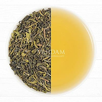 Organic Green Tea Leaves from Himalayas(50 Cups),100% Natural Detox Loose Leaf Tea, Weight Loss,Slimming Tea, Powerful Natural Anti-Oxidants,Sourced from High Elevation Plantations, 3.53oz by Vahdam Teas
