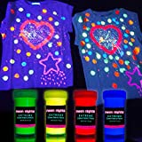 Glow in The Dark Fabric Paint - Set of 4 – Neon