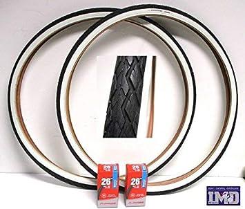 2 x Neumáticos + 2 x Cámaras de aire para bici bicicleta / Tamaño 26
