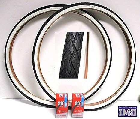 2 x Neumáticos + 2 x Cámaras de aire para bici bicicleta / Tamaño ...