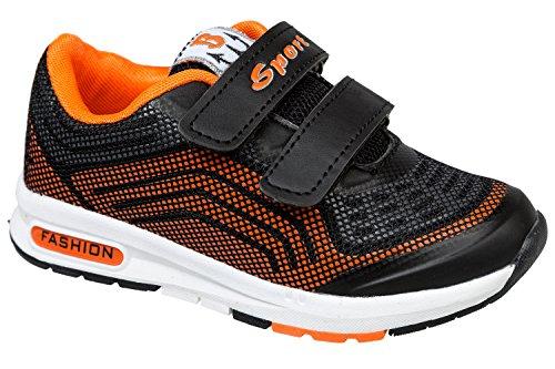 gibra - Zapatillas de sintético/textil para niño Negro - negro / naranja