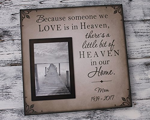 12x12 Personalized memorial gift, photo frame, sympathy gift, bereavement picture frame, Because someone we love is in heaven