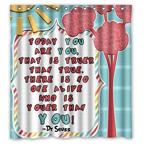 Generic Personalized Cartoon Cute DrSeuss Design Sold By Too Amazing Shower Curtain Bath Decor