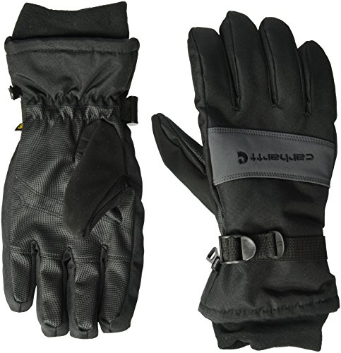 Carhartt Men's W.p. Waterproof Insulated Work Glove, black/Grey, Medium