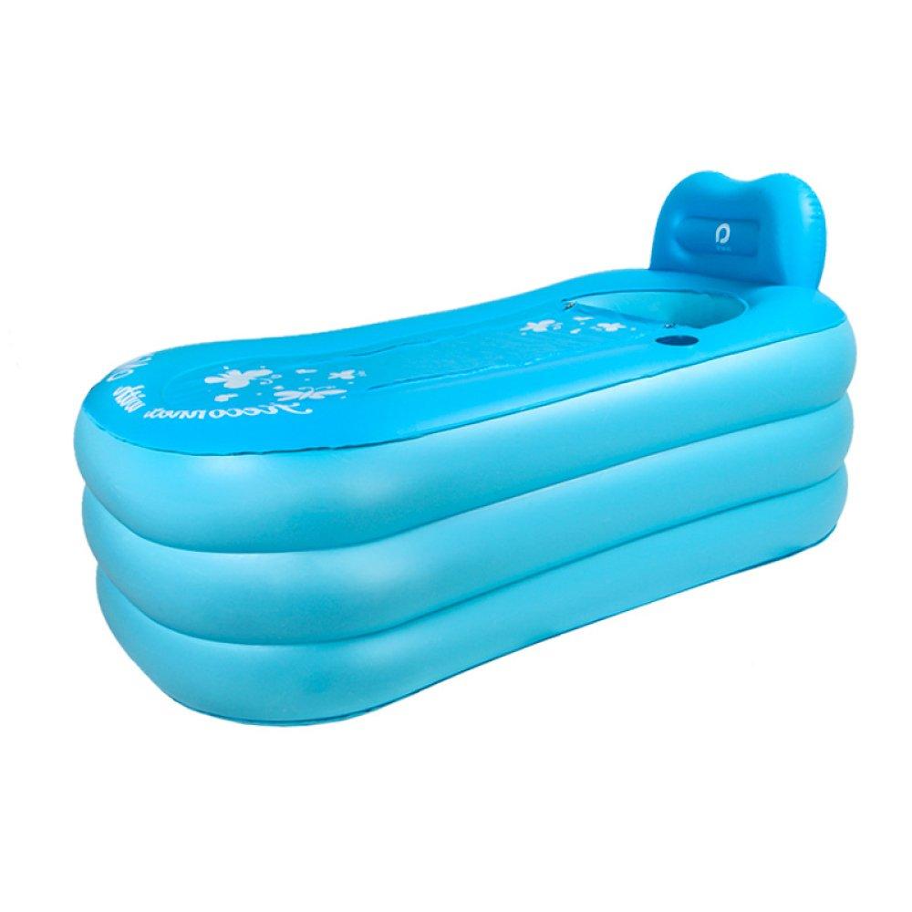 ERHANG Badewannenspritzschutz Aufblasbare Badewanne Badewanne Aufblasbare Badewannen Erwachsene Badewannen Kinderbadewannen Badewannen Faltbare Badewannen Badewannen Blau L