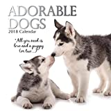 2018 Adorable Dogs Calendar - 12 x 12 Wall Calendar - With 210 Calendar Stickers