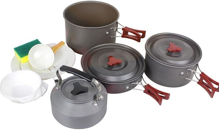 Kit de camping batería de cocina antiadherente sartenes platos ...
