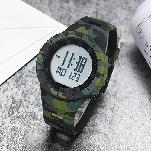 New Camouflage Cool Outdoor Sport Children's Watch Led Light Comfortable Rubber Band Multifunctional Trendy Hot Rugged by autulet (Image #5)