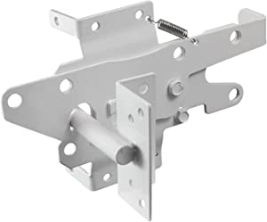 Vinyl Gate Latch White (for Vinyl, Wood, PVC etc Fencing) Fence Gate Latch w/Mounting Hardware - Gate Latches Have a 90 Degree Bracket Resulting in a Positive Latch to Gate Connection