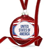 Christmas Decoration United States of America Fourth of July Red, White, And Blue Ornament