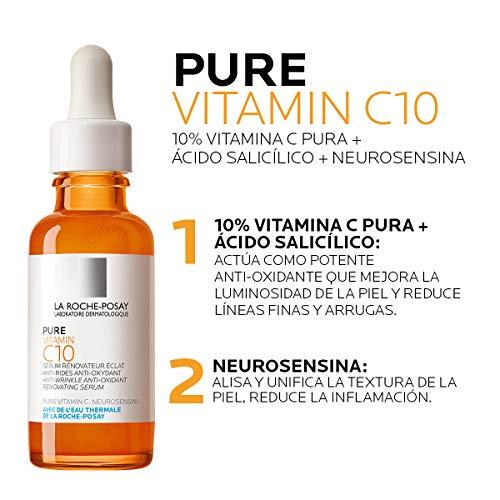 La Roche Posay Pure Vitamin C Face Serum With Hyaluronic Acid Salicylic Acid Anti Aging