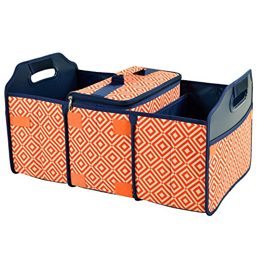 Picnic at Ascot 3 Section Folding Trunk Organizer- with Removable Cooler- Designed & Quality Approved in the USA