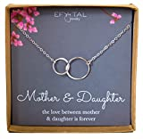 Image of Mother Daughter Necklace - Sterling Silver two interlocking infinity circles, Mothers Day Jewelry Gift