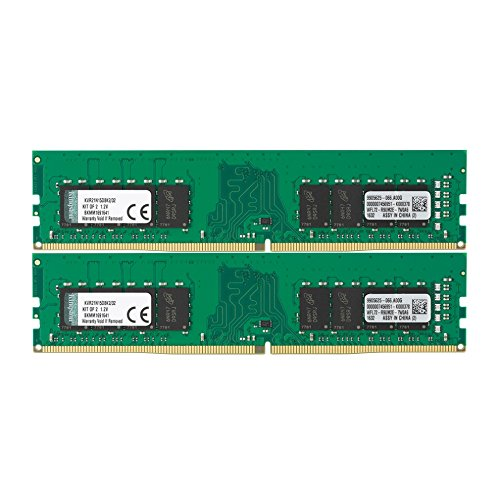 Kingston ValueRAM 32GB Kit (2x16GB) 2133MHz DDR4 Non-ECC CL15 DIMM 2Rx8 Memory (KVR21N15D8K2/32)