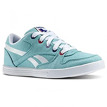 e384df2e REEBOK PREMIUM VULC II V59287 KIDS SPORTS TRAINERS SHOES BLUE/PRPL O/PINK/