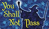 Toland Home Garden 800457 Shall Not Pass Doormat, Multicolor