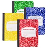 Colorful Composition Notebooks 4 Pack ( Green, Red, Yellow and Blue) by JOT