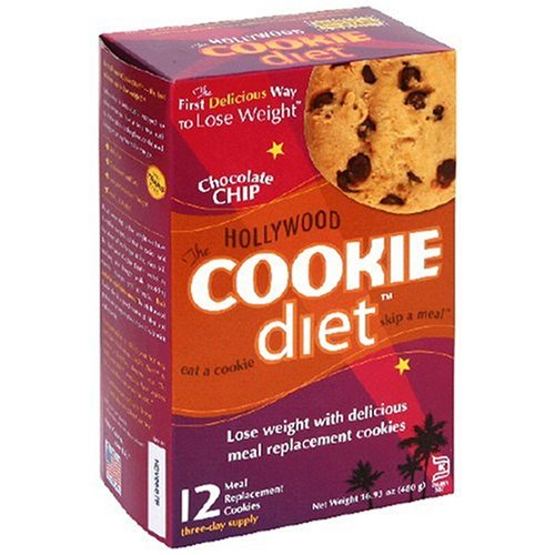 Hollywood Cookie Diet Meal Replacement Cookies, Chocolate Chip, 1.4-Ounce Cookies  (Pack of 12)