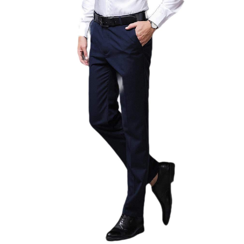 Winwinus Mens Skinny-Fit Light Weight Slim Fit Cozy Plain-Front Pants
