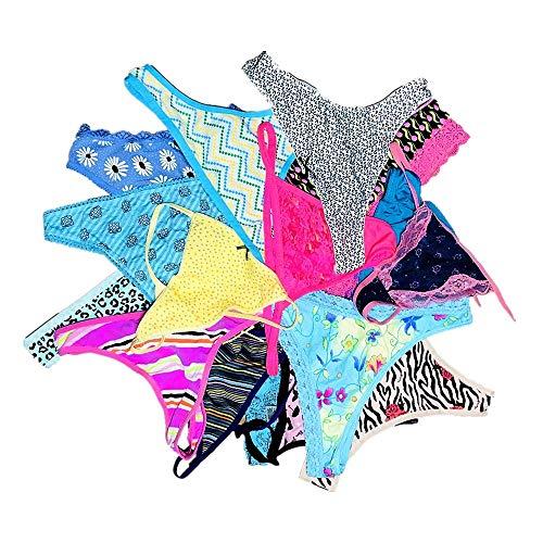 DIRCHO Women Underwear Variety of Panties Thong G-String T-Back Tanga Pack of 10&20 (8 Pcs, Small)