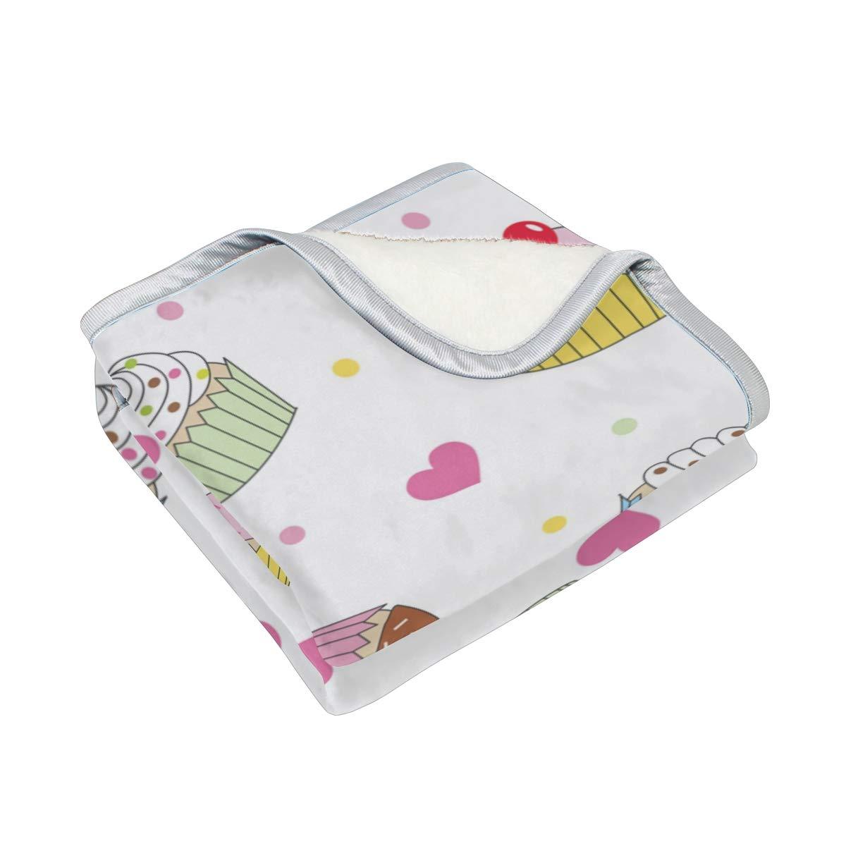 Amazon.com: Chen Miranda Cupcakes Blanket Super Soft ...