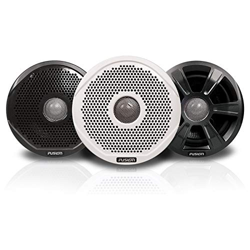 Fusion Fr7022 7'' Round 2-Way Ipx65 Marine Speakers - 260w - Pair W/3 Speaker Grilles Provided