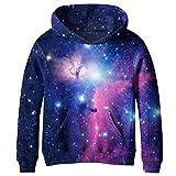 COIKNAVS Teen Girls Boys Galaxy Fleece Sweatshirts Pockets Pullover Hoodies NO15 XL