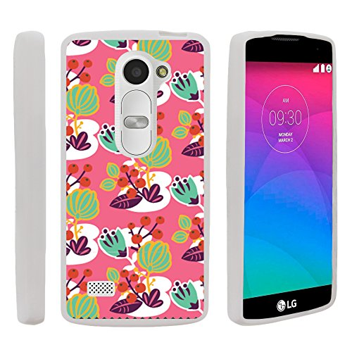 MINITURTLE Case Compatible w/Flex Force Case for LG Risio Flexible Slim Fit TPU Case Cover w/Dazzling Designs LG Risio Lovely Pond