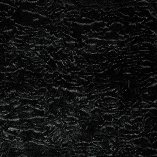 (Shannon Luxe Faux Fur Persian Lamb Black Fabric by the Yard)