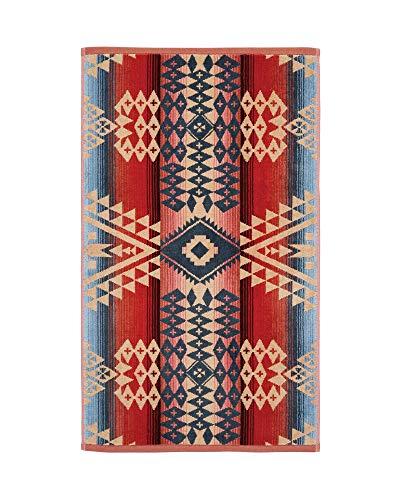 Pendleton Canyonlands Jacquard Pattern Cotton Hand Towel, Desert Sky, One Size Desert Sky Cotton Print