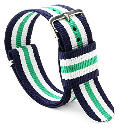 United Watch Bands - Choice of Color, Length & Width (18mm, 20mm, or 22mm) - Ballistic Nylon Straps