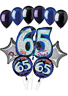 11 Pc Oh No The Big 65 Happy Birthday Balloon Bouquet Decoration Party 65th