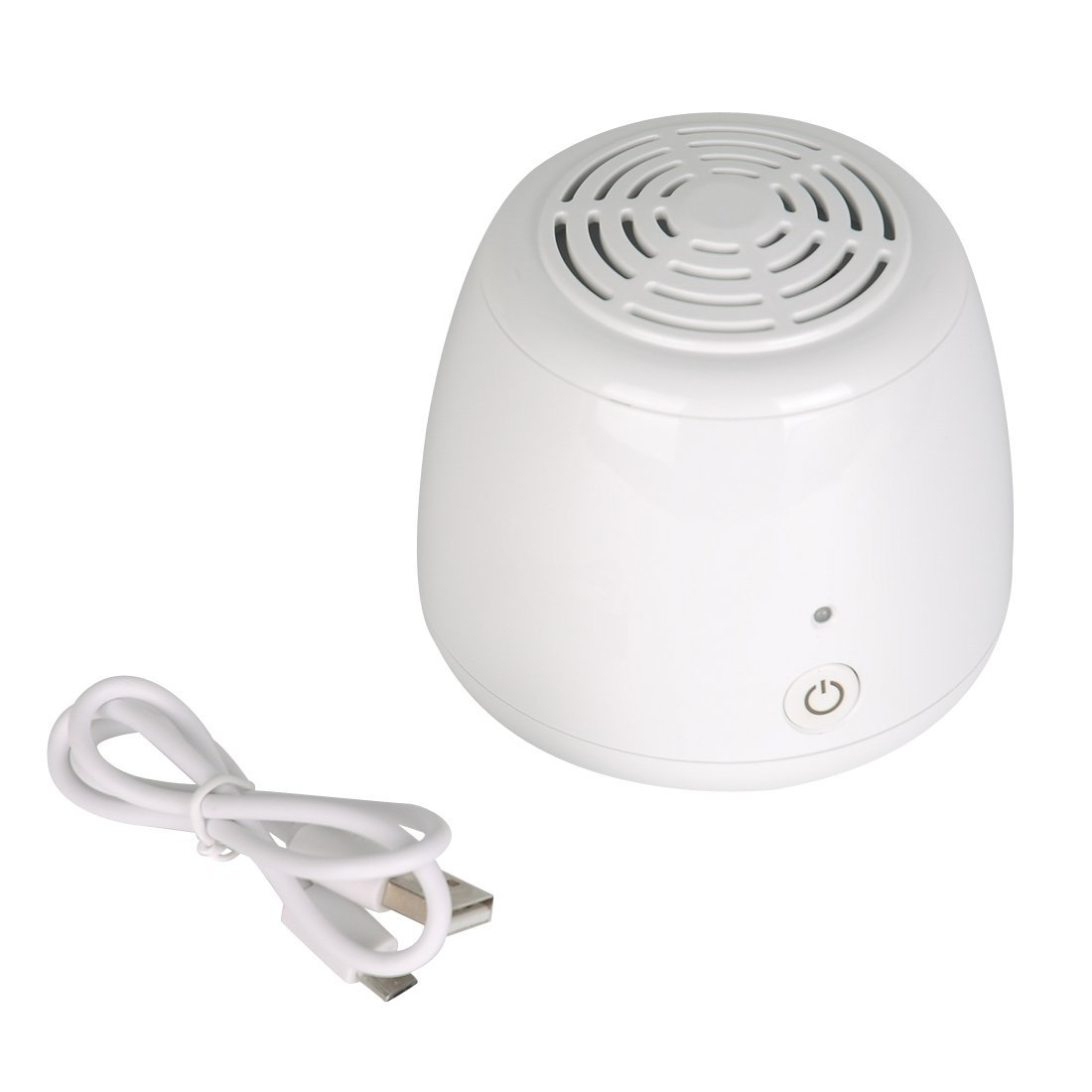 Mini purificador de aire, ZITFRI ionizador ozonizador de aire casero generador de ozono elimina olores bacterias humos impurezas para refrigerador armario ...