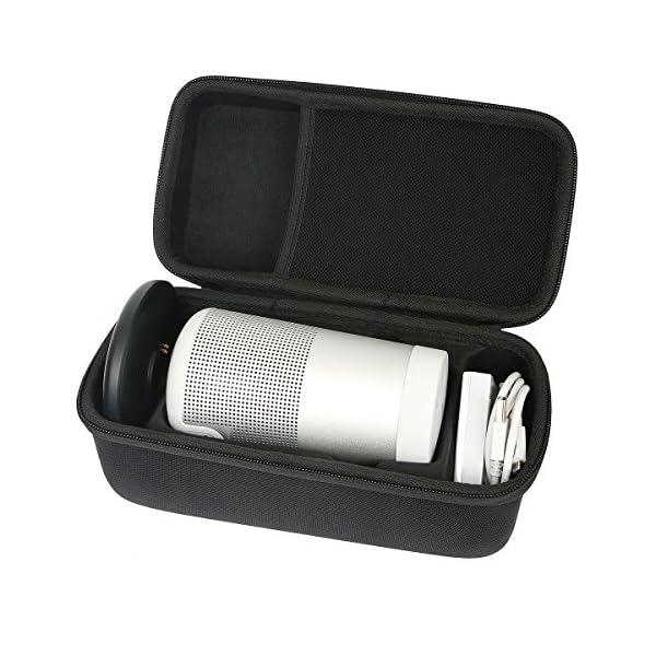 Khanka Dur Cas étui de Voyage Housse Porter pour bose soundLink Revolve Enceinte Bluetooth S'adapte Socle 1