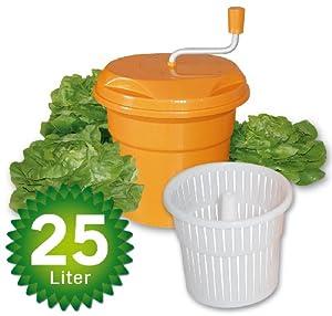 Salatschleuder, Inhalt 25 Liter, HxØ 520x430 mm