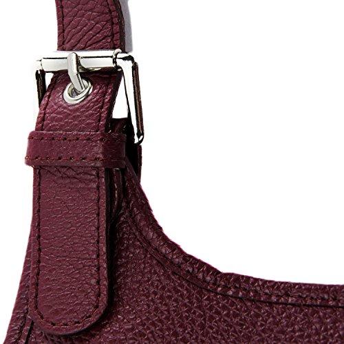 Cuir Rouge modèle nouvelle à Fonce grainé main Destock 2018 lively cuir sac collection bandoulière 7rw7ap
