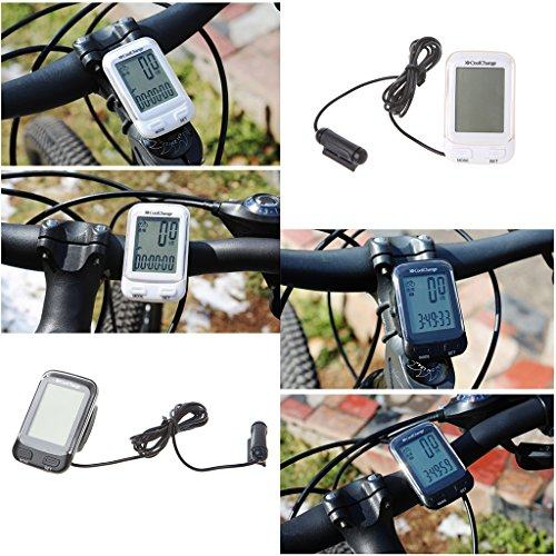BetterM Waterproof Wired Multi function Speedometer Cycling Odometer with LCD Diplaying