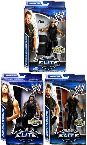 **PACKAGE DEAL** THE SHIELD (DEAN AMBROSE, SETH ROLLINS & ROMAN REIGNS) - WWE ELITE MATTEL TOY WRESTLING ACTION FIGURES 51ko52xmyCL